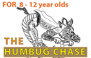 The logo of The Humbug Chase for 8-12 year olds.