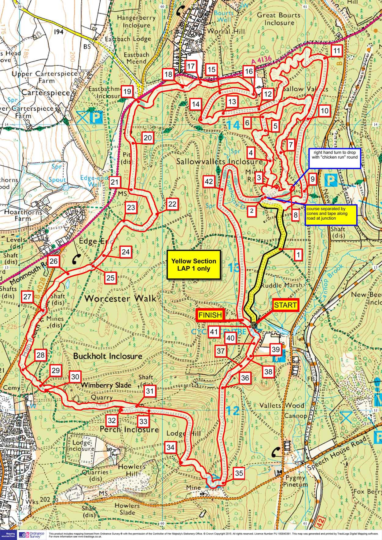 2015 Forest of Dean Enduro Course