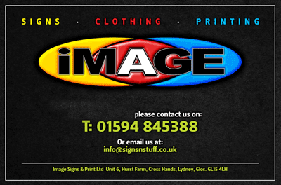 Image Signs and Print Ltd. based at Hurst Farm, Lydney, Gloucestershire.