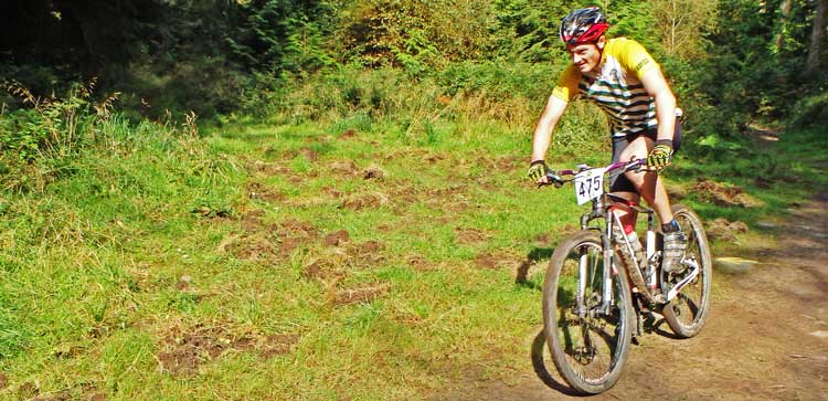 Winner of the 2014 XC Enduro, No 475 Jared Linden