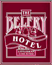 Logo of the Belfry Hotel, Littledean.