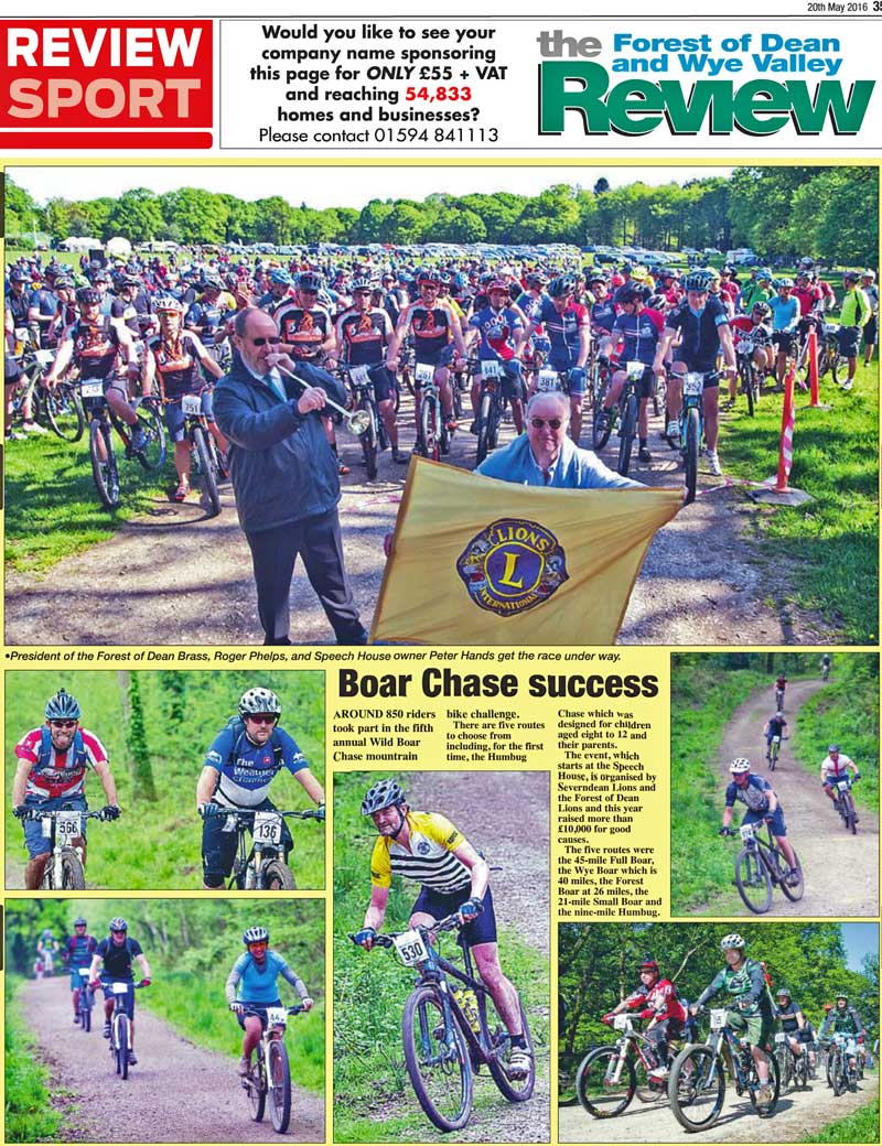 Report in the Forest of Dean & Wye Valley Review for the 2016 Events