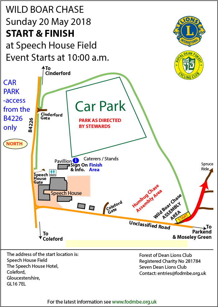 Plan showing entry point, signing on point and assembly area.
