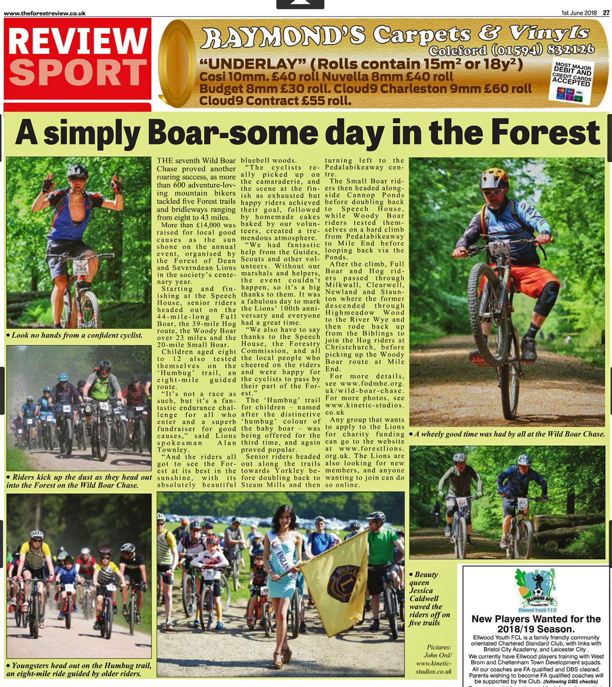 Forest Review report of the 2018 Wild Boar Chase