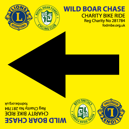 Wild Boar Chase direction sign