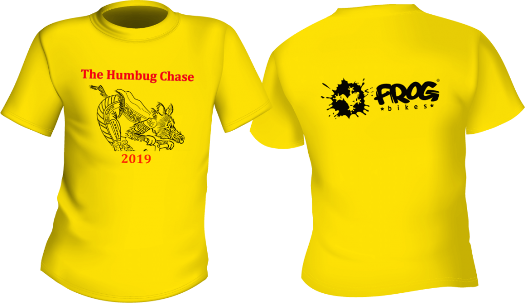 An image showing the Humbug Chase 2019 T Shirt